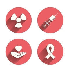 Medicine icons Syringe life radiation vector image vector image
