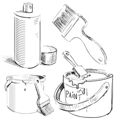 Painting stuff set vector image vector image