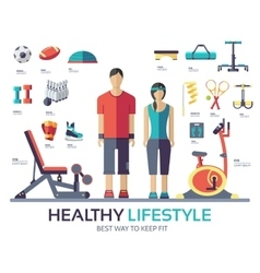 Sport life style infographic device equipment vector image