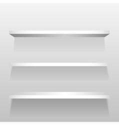 White empty shelves on the wall vector image