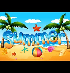 A summer at the beach vector