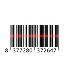 barcode laser vector image