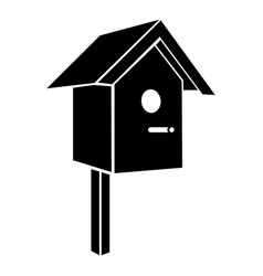 birdhouse icon simple black style vector image