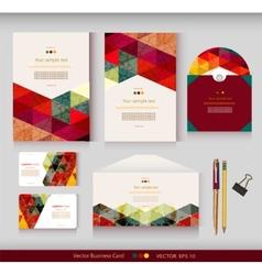 Corporate Identity templates Geometric pattern vector image vector image