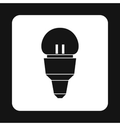 LED bulb icon simple style vector image vector image