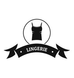 lingerie fashion logo simple black style vector image