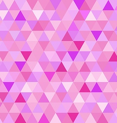 Seamless pattern pink triangle geometry mosaic vector image vector image