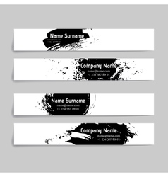 Set of abstract ink and splashes banners vector image vector image