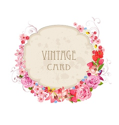 Vintage label for your design vector image vector image
