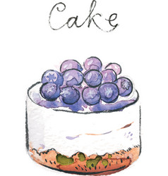 watercolor cake vector image vector image