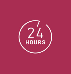 24 hours customer service vector