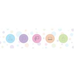 5 teacher icons vector