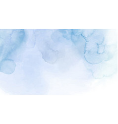 Abstract blue watercolor for background vector