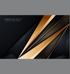 Abstract luxury dark background with golden lines vector