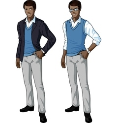 African office clerk in casual formal wear vector image