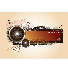 audio elements vector image