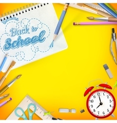 Back to School template concept EPS 10 vector image