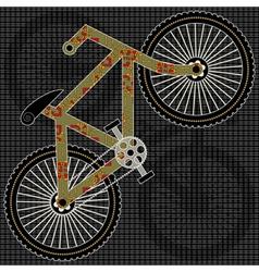 bicycle print design vector image