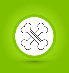 Bones icon in creative design with elements for vector