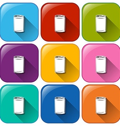 Buttons with cans vector image