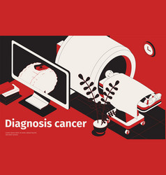 cancer diagnosis isometric background vector image