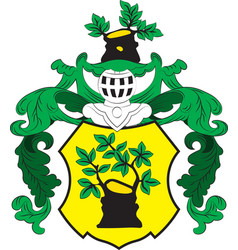 Coat of arms of apolda in thuringia in germany vector