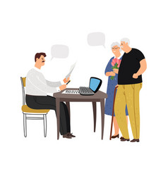 couple at social worker vector image