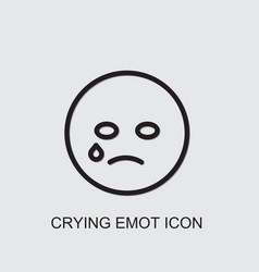 Crying emot icon vector