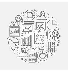 Data analytics vector image