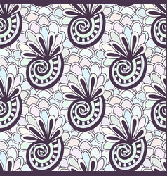 Doodling seamless pattern with seashells vector