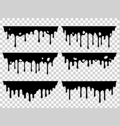 dripping oil stain liquid ink paint drip vector image