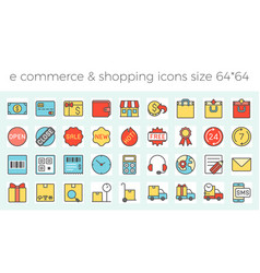 E commerce shopping and delivery icons set vector