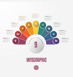 Elements infographics conceptual cyclic processes vector
