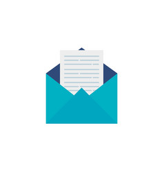 Envelope mail open flat style icon vector