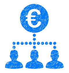 Euro payment clients grunge icon vector