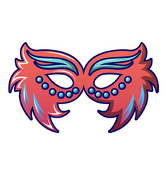 fashion carnival mask icon cartoon style vector image