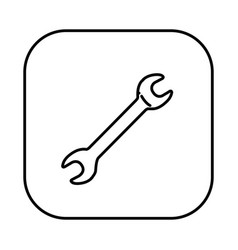 figure symbol wrench icon vector image