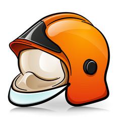 firefighter helmet cartoon vector image