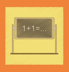 Flat shading style icon school blackboard vector