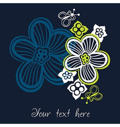 flower card with space for text vector image vector image