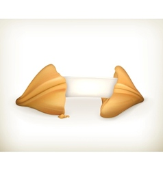 Fortune cookie banner vector