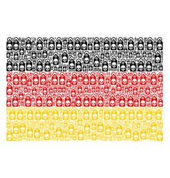 germany flag mosaic of death skull tag items vector image