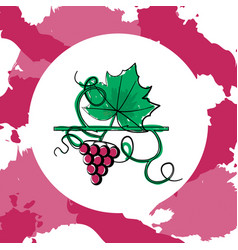 Grape berry leaf vector