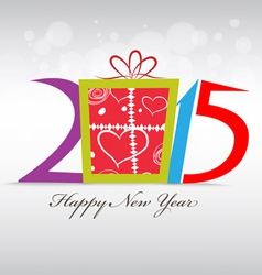 Happy new year and christmas with gift vector