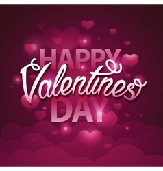 Happy valentines day script text on pink vector