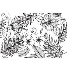 hawaiian pattern seamless background vector image