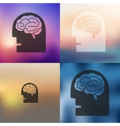 head icon on blurred background vector image