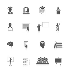 Higher Education Icon Set vector
