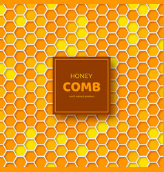 honeycombs background in 3d paper cut style vector image