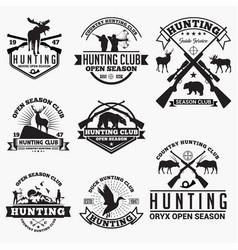 hunt 1 logo badge vector image